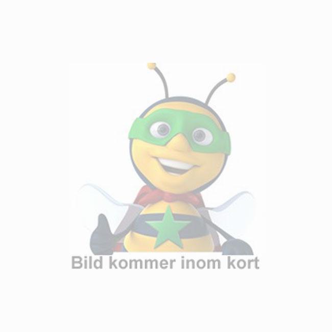 """Glastavla NOBO 57"""" vit rundade hörn"""
